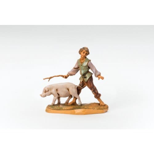 Fontanini Clement Boy with Pig - 5
