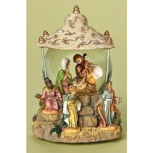 Fontanini Holy Family with Three Kings Snowglobe