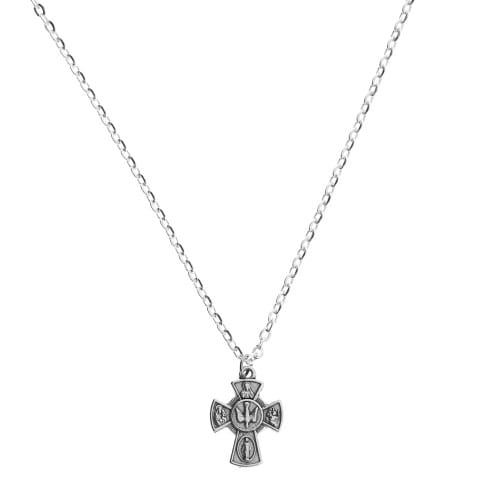 Four Way Confirmation Cross w/ chain