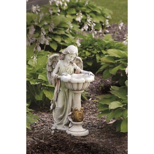 Garden Angel Bird Bath 23 Quot The Catholic Company
