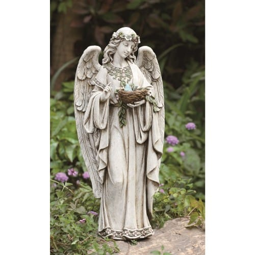 Garden Angel Holding Nest 24 The Catholic Company