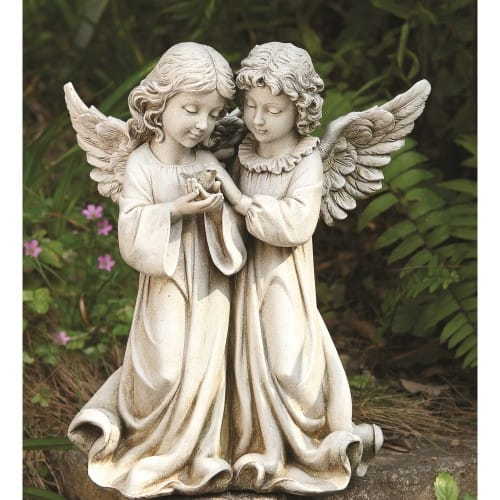 Garden Angels With Birds 12 Quot The Catholic Company