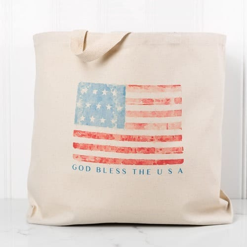 God Bless the USA Canvas Tote