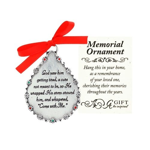 God Saw Him Memorial Ornament