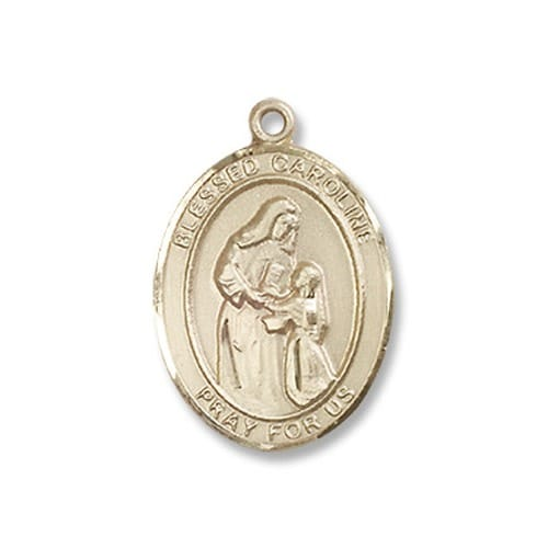 14kt Gold Filled Blessed Caroline Gerhardinger Pendant w/ Chain
