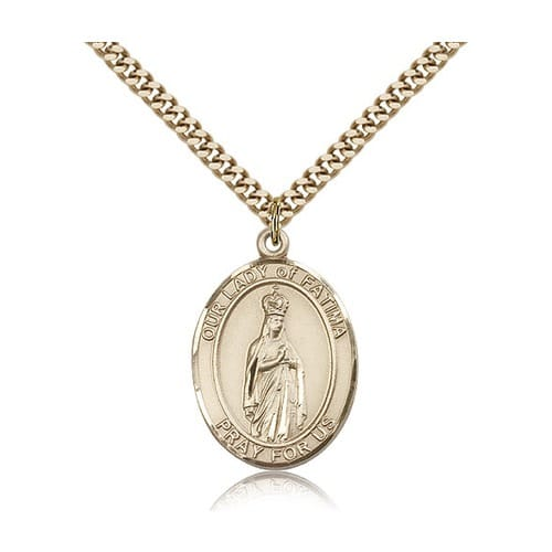 14kt Gold Filled Our Lady of Fatima Pendant w/ chain