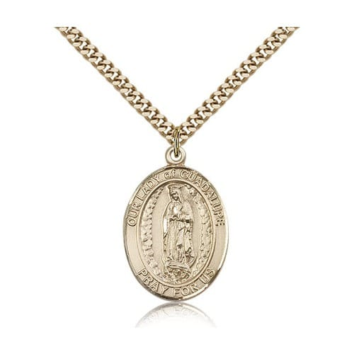 14kt Gold Filled Our Lady of Guadalupe Pendant w/ chain