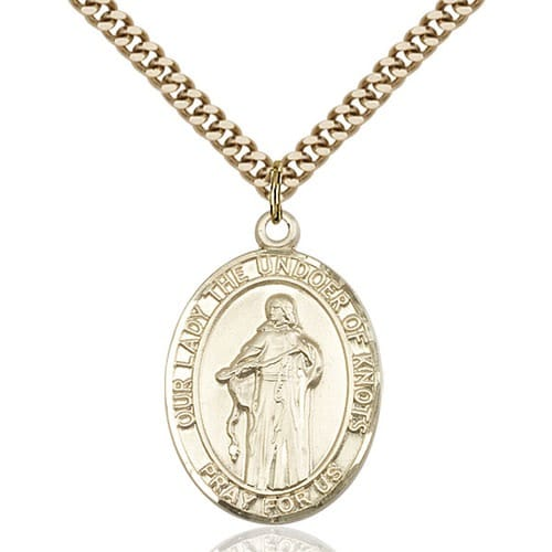 14kt Gold Filled Our Lady Of Knots Pendant w/ chain