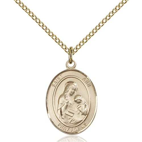 Gold Filled St. Ann Pendant w/ Chain