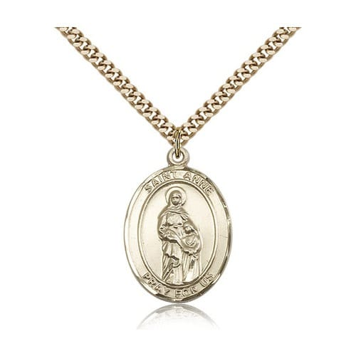 14kt Gold Filled St. Anne Pendant w/ chain