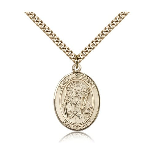 14kt Gold Filled St. Apollonia Pendant w/ chain