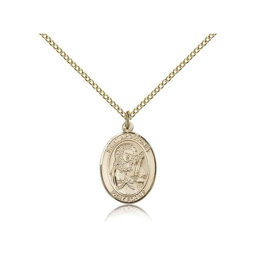 Gold Filled St. Apollonia Pendant w/ Chain