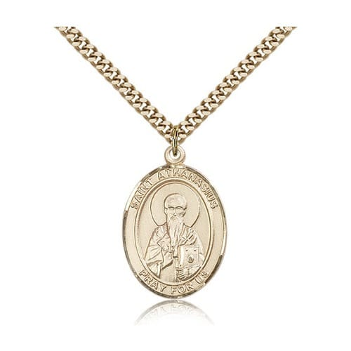 14kt Gold Filled St. Athanasius Pendant w/ chain