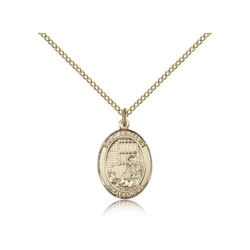 Gold Filled St. Benjamin Pendant w/ Chain