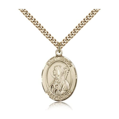 14kt Gold Filled St. Brigid of Ireland Pendant w/ chain