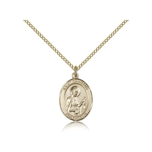 Gold Filled St. Camillus of Lellis Pendant w/ Chain