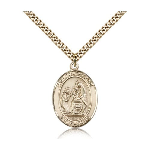 14kt Gold Filled St. Catherine of Siena Pendant w/ chain