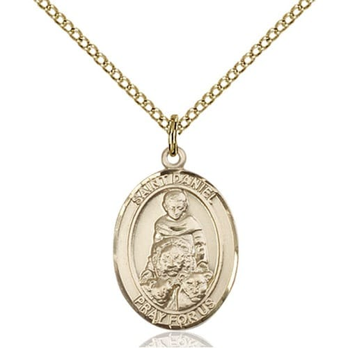 Gold Filled St. Daniel Pendant w/ Chain