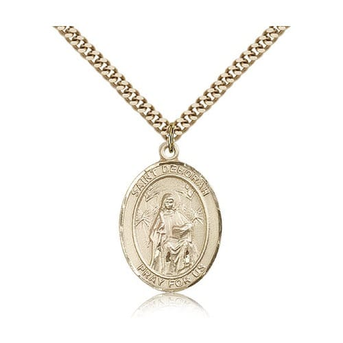 14kt Gold Filled St. Deborah Pendant w/ chain