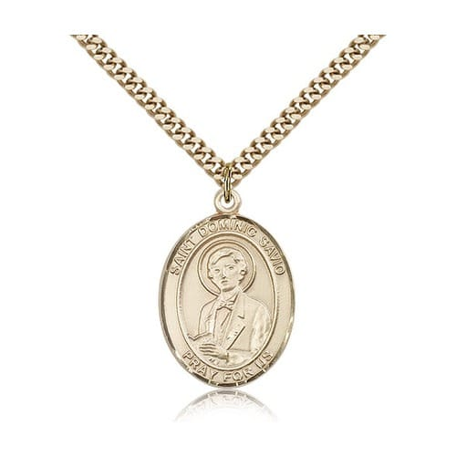 14kt Gold Filled St. Dominic Savio Pendant w/ chain
