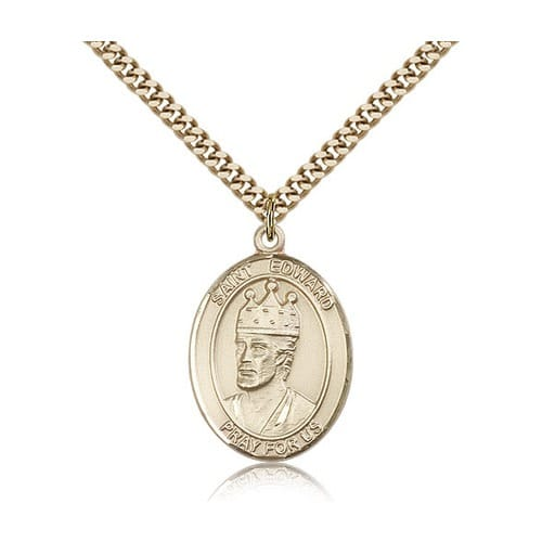 14kt Gold Filled St. Edward the Confessor Pendant w/ chain