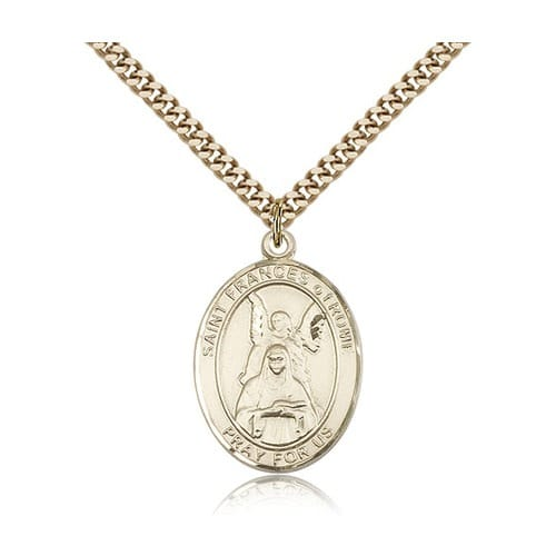 14kt Gold Filled St. Frances Of Rome Pendant w/ chain
