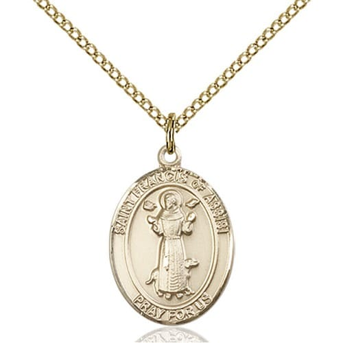 Gold Filled St. Francis of Assisi Pendant w/ Chain