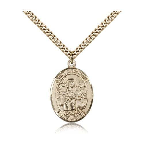 14kt Gold Filled St. Germaine Cousin Pendant w/ chain