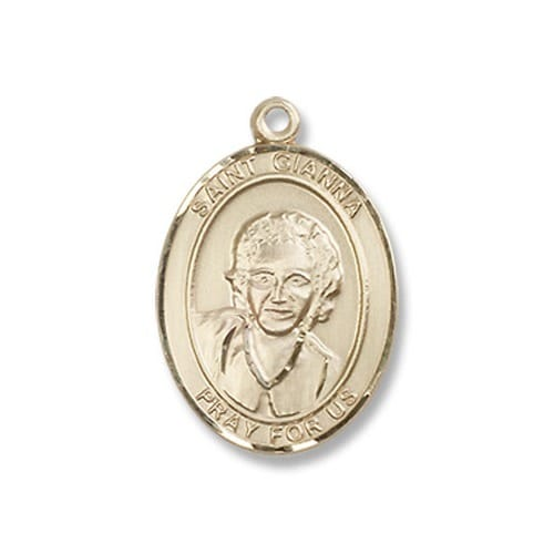 14kt Gold Filled St. Gianna Pendant w/ Chain
