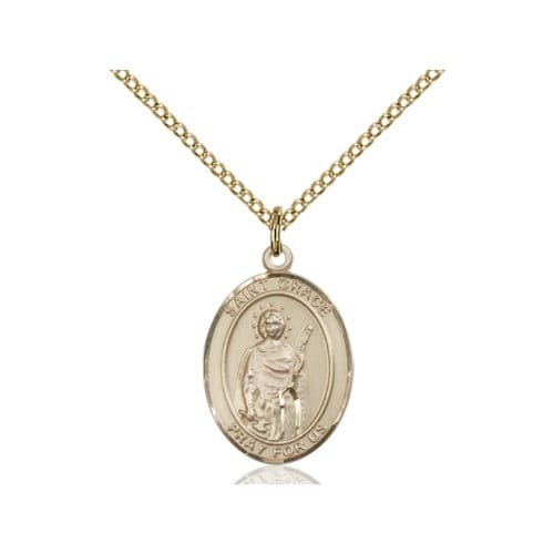 14kt Gold Filled St. Grace Pendant w/ Chain