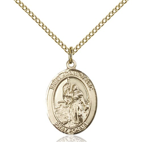 Gold Filled St. Joan of Arc Pendant w/ Chain