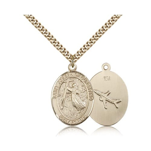 14kt Gold Filled St. Joseph Of Cupertino Pendant w/ chain