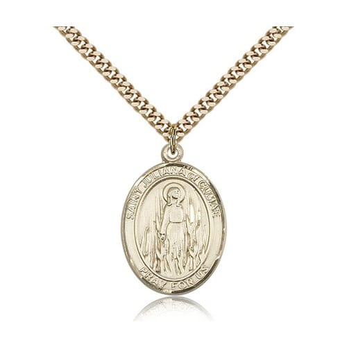 14kt Gold Filled St. Juliana Pendant w/ chain