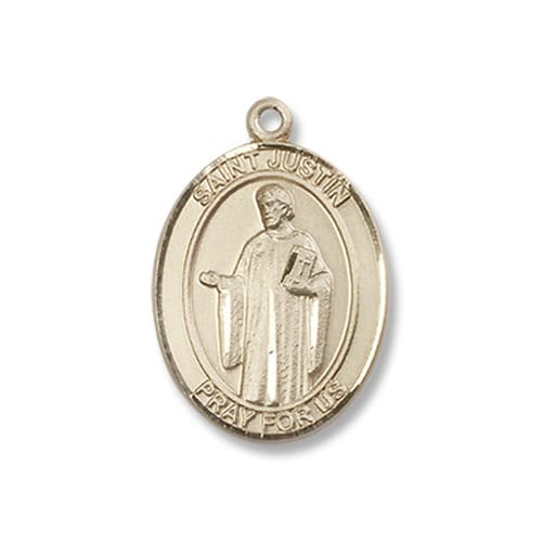 Gold Filled St. Justin Pendant w/ Chain