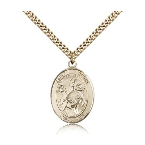 14kt Gold Filled St. Kevin Pendant w/ chain