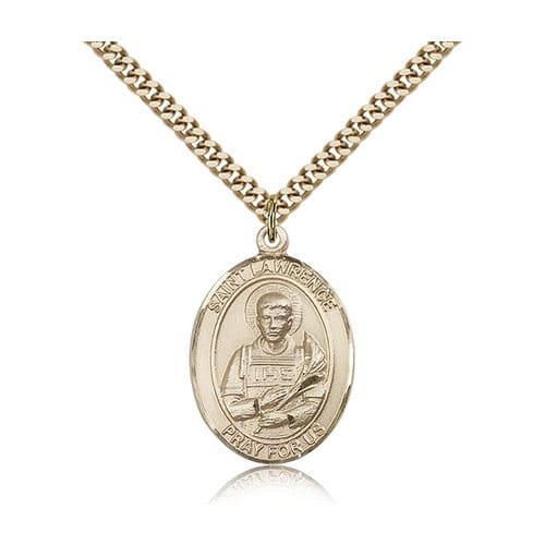 Gold Filled St. Lawrence Pendant w/ chain