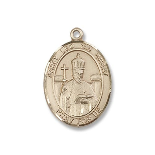 Gold Filled St. Leo the Great Pendant w/ Chain