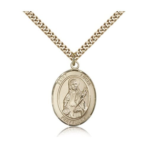 14kt Gold Filled St. Lucia of Syracuse Pendant w/ chain