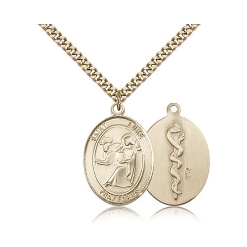14kt Gold Filled St. Luke the Apostle Pendant w/ chain