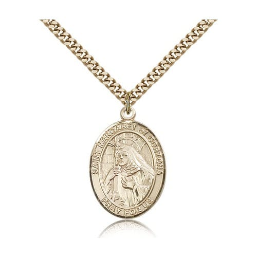 14kt Gold Filled St. Margaret of Cortona Pendant w/ chain