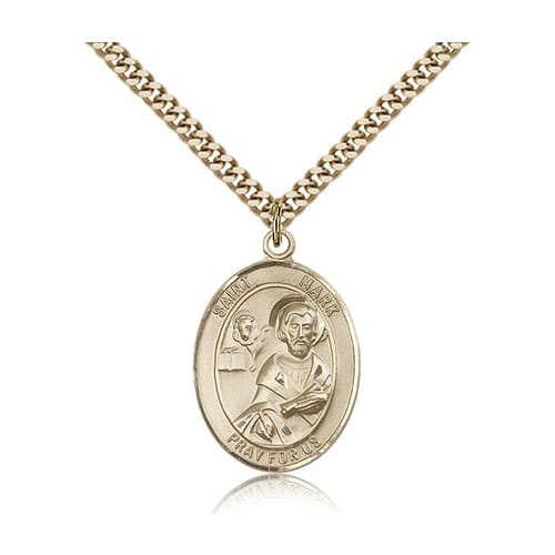 Gold Filled St. Mark the Evangelist Pendant w/ chain