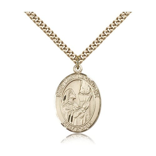 14kt Gold Filled St. Mary Magdalene Pendant w/ chain