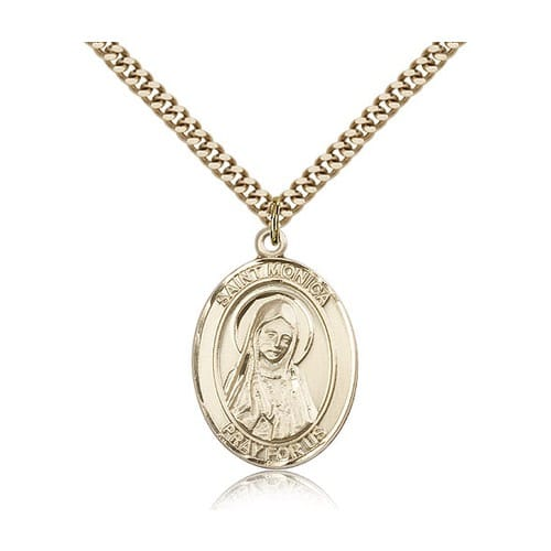 14kt Gold Filled St. Monica Pendant with Chain