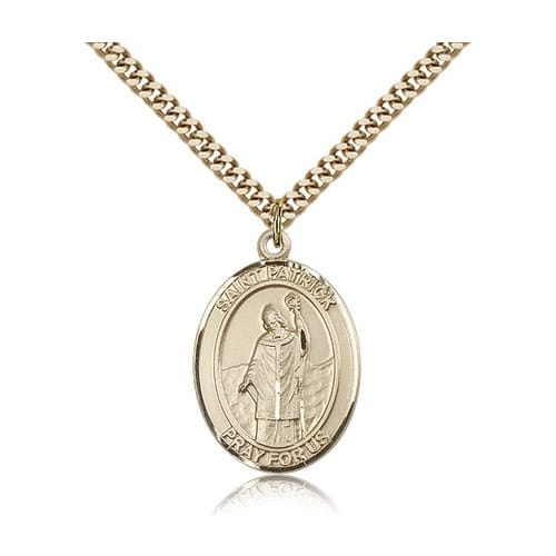14kt Gold Filled St. Patrick Pendant w/ chain
