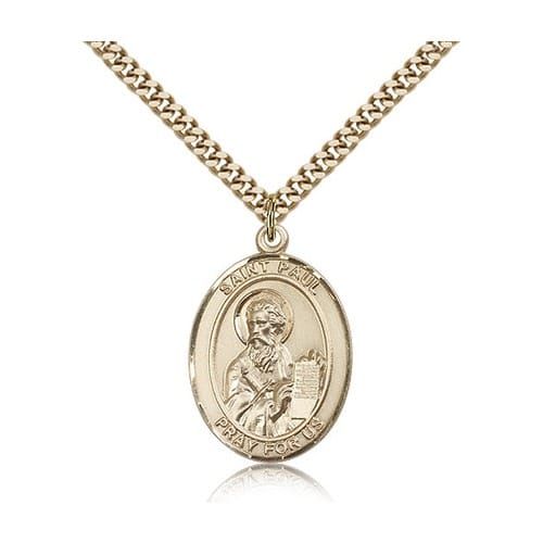 14kt Gold Filled St. Paul the Apostle Pendant w/ chain