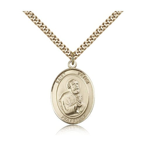 14kt Gold Filled St. Peter the Apostle Pendant w/ chain