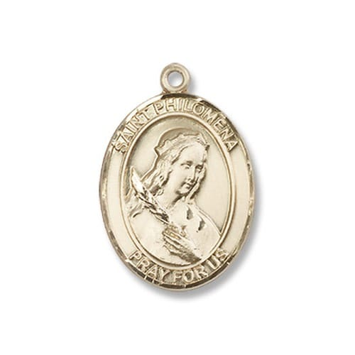 Gold Filled St. Philomena Pendant w/ Chain