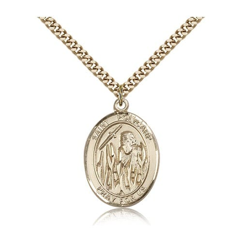 Gold Filled St. Polycarp of Smyrna Pendant w/ chain