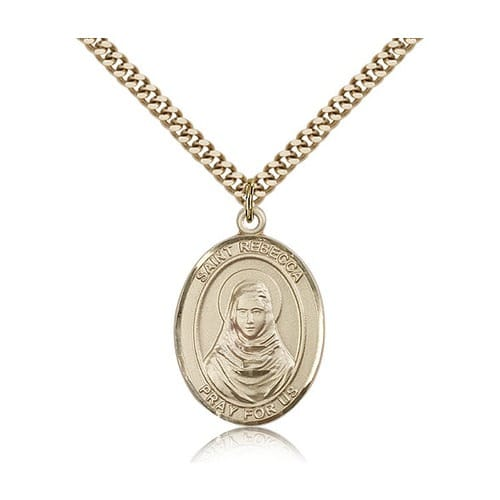 14kt Gold Filled St. Rebecca Pendant w/ chain