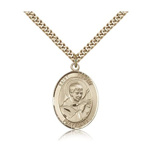 14kt Gold Filled St. Robert Bellarmine Pendant w/ chain
